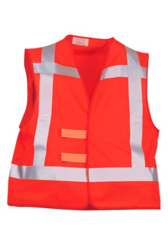 Triffic High visibility safety vest Road safety vest en-471/rws Fluorescent orange ONE SIZE