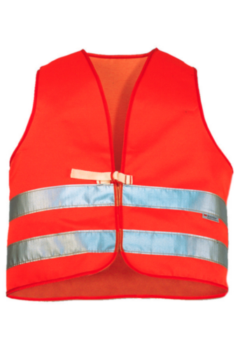 Triffic High visibility safety vest Road safety vest en-471 Fluorescent orange ONE SIZE