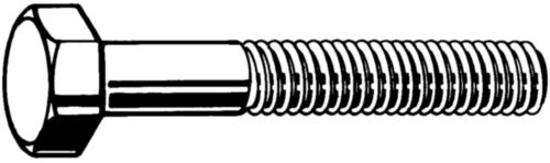 Hexagon head bolt DIN 931 Steel Plain 8.8 DIN 931 M20X70