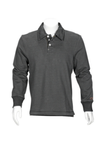 TRIF SOLID POLO M.LONG. ANTHRACITE, M