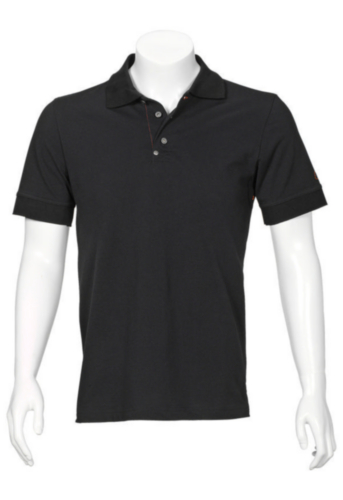 Triffic T-shirt Solid Polo shirt short sleeves Black XL