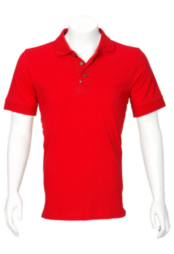 Triffic T-shirt Solid Polo shirt short sleeves Red 4XL