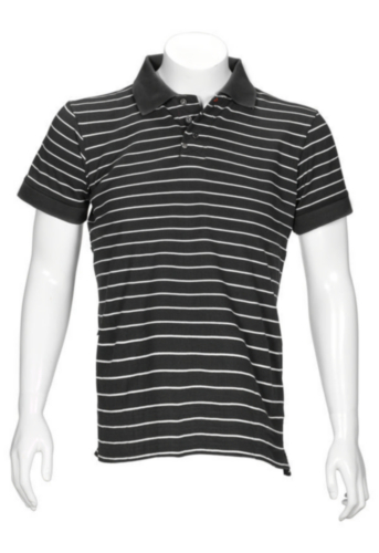 Triffic T-shirt Solid Polo shirt short sleeves Anthracite/White 3XL
