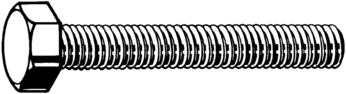 Hexagon head screw DIN 933 Steel Zinc flake Cr<sup>6+</sup>free - ISO 10683 flZnnc 10.9 DIN 933 M6X12