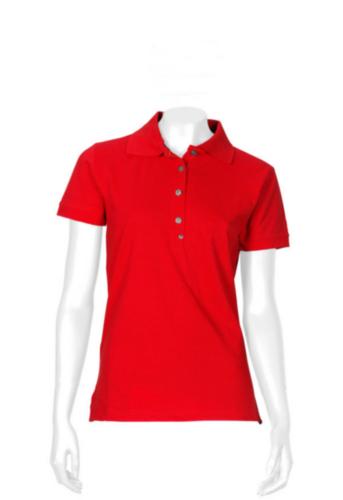 Triffic T-shirt Solid Polo shirt short sleeves ladies Red M