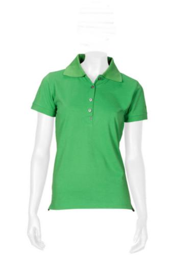 Triffic T-shirt Solid Polo shirt short sleeves ladies Apple green M