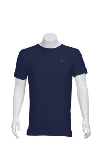 Triffic Turtleneck long sleeve Solid Bodydry t-shirt ø-neck short sleeves Navy blue S