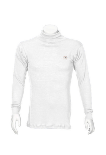 Triffic Turtleneck long sleeve Solid Bodydry t-shirt turtleneck long sleeves White S