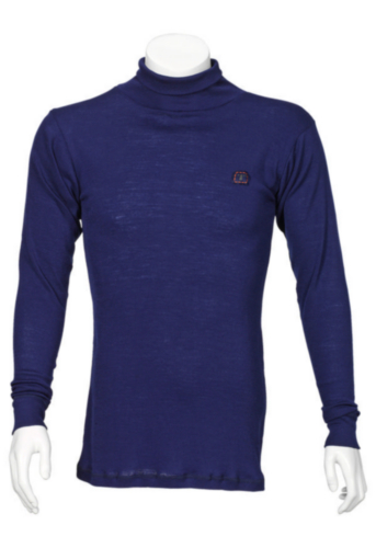 Triffic Turtleneck long sleeve Solid Bodydry t-shirt turtleneck long sleeves Navy blue S