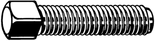 Vierkantkop bout UNC Staal Blank