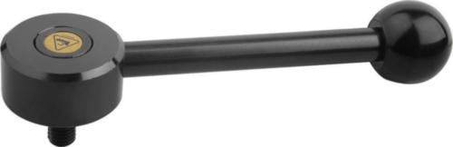 KIPP Tension levers, flat, 0 degrees, external thread Ocel 5.8 / plast Černý oxid M16X45X30