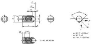 Stifturi indexoare cu cep si slot, LONG LOK, presiune standard Otel 5.8 Oxid negru M16
