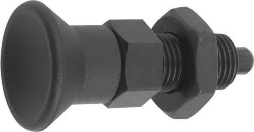 Indexing plungers, non-lockout type, with locknut