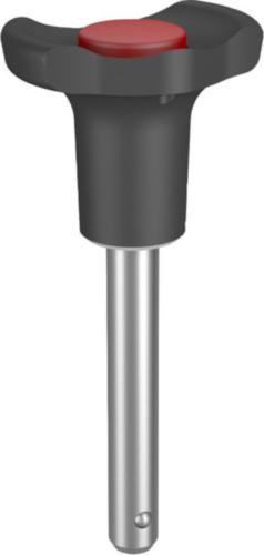 KIPP Ball lock pins self-locking, form A Stainless steel/plastic 10X60MM