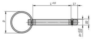 KIPP Locking pins with key ring Ocel / nerezová ocel 8X40