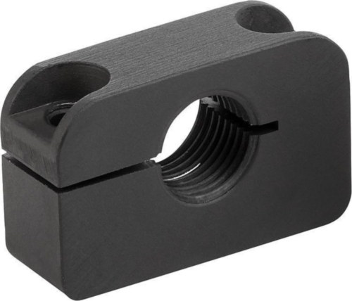 KIPP Mounting brackets, with mounting hole perpendicular to thread Negro Métrica fina Aluminio 3.2163 M10X1,00