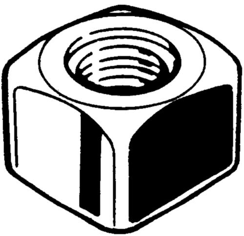 Čtyřhranná pásová matice UNF Ocel Bez PU 12