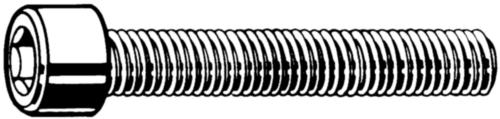 Hatlapú belső kulcsnyílású csavar, végig menetes DIN ≈912 Műanyag Poliamid (nejlon) 6.6