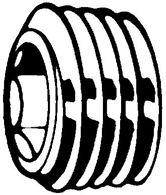 Dopuri filetate locaș inbus, filet conic, Gaz DIN 906 Oțel Simplu