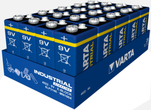 Varta Battery 4022.211.111 9V/6LR61 4022 20PC