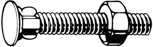 Verzonken vleugelslotbout met zeskantmoer Staal Elektrolytisch verzinkt 4.6