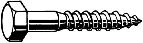 Zeskant houtdraadbout DIN 571 Staal Elektrolytisch verzinkt 6X40MM