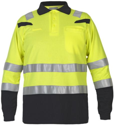 Hydrowear High visibility polo t-shirt Marbella Yellow/Black 4XL