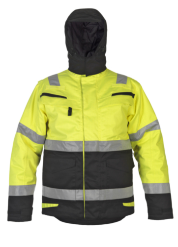 Hydrowear High visibility winter parka Matre Yellow/Blue S