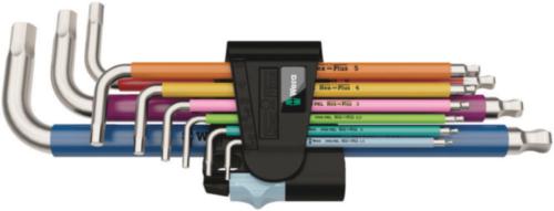 Wera Hexagon key sets 3950/9 Hex-Plus Multicolour Stainless 1 SET