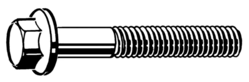 Hexagon flange bolt DIN 6921 Steel Plain 10.9