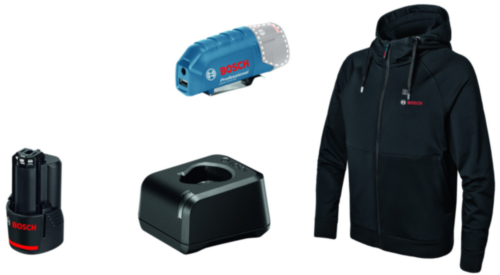 Bosch Pull à capuche chauffée GHH 12+18V XA GHH 12+18V XA L Kit Noir L