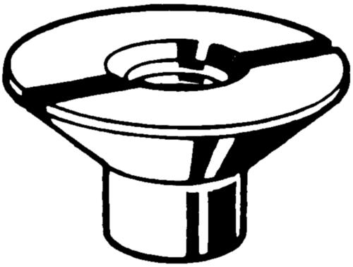 Tuerca con rañura Acero de corte Cincado