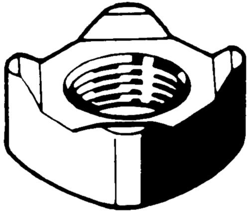 Vierkantlasmoer DIN 928 Staal Max. 0,25%C Blank
