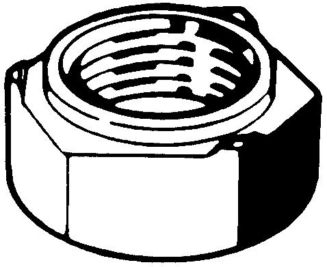 Zeskantlasmoer DIN 929 Staal Max. 0,25%C Blank