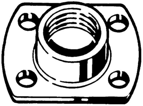 Puntlasmoer met flens Staal Elektrolytisch verzinkt