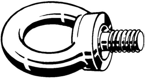 Lifting eye bolts metric
