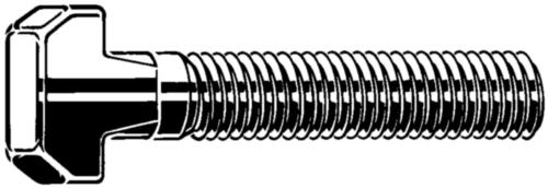 Hamerkopbout met vierkante nek DIN 186 B Roestvaststaal (RVS) A4