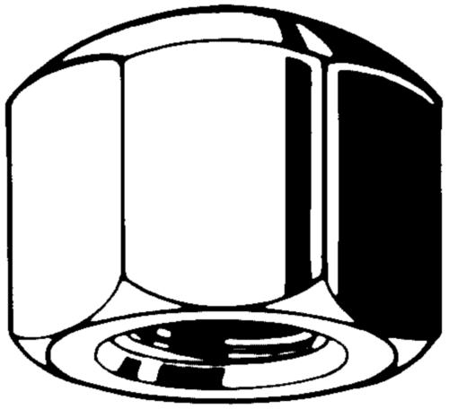 Hexagon cap nut, low type DIN 917 Steel Zinc plated 6