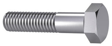 Hexagon head bolt DIN 931 Steel Plain 8.8 M4X50