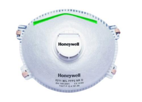Honeywell Wegwerpmaskers met ventiel 1005099
