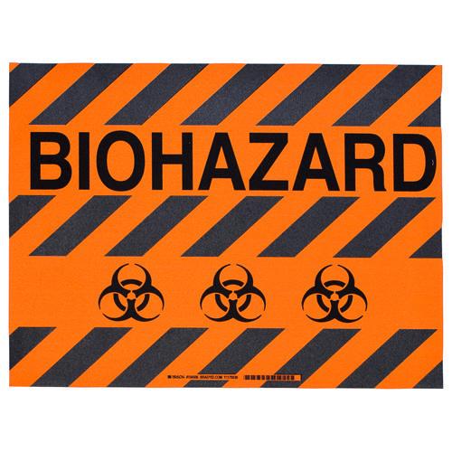 Brady Floor sign BIOHAZARD W/SYMBOL