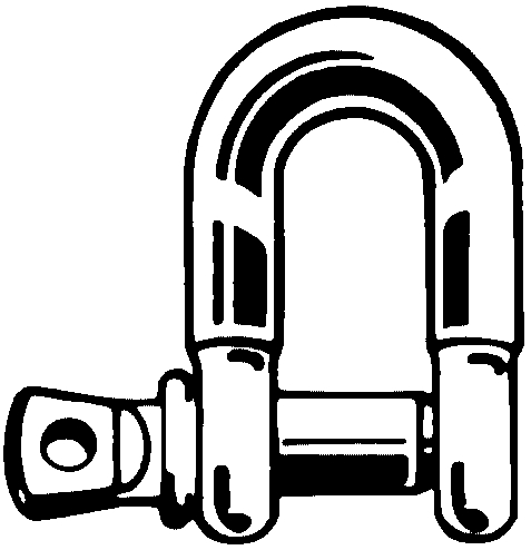 D (chain) shackle, Steel Steel Zinc plated