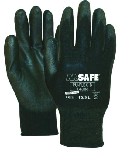 M-Safe Beschermende handschoenen Polyurethaan PU-Flex SIZE 9