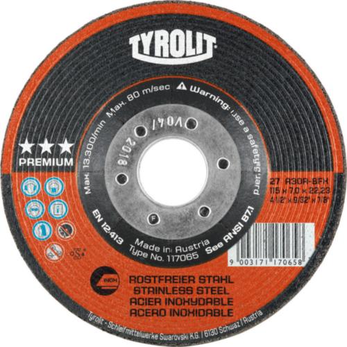 Tyrolit Disque de meulage 117070 125X7,0X22,2