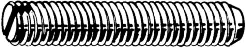 Stelschroef met zaaggleuf en kratereind DIN 438 Staal Blank 14H