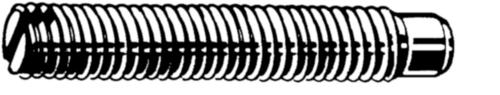 Stelschroef met tap DIN 417 Roestvaststaal (RVS) A2