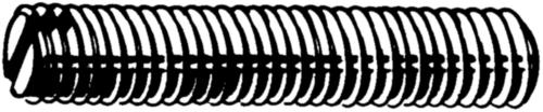 Gewindestifte mit Schlitz DIN 551 DIN 551 Rostfreistahl A4 M10X40