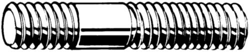 Tapeind inschroeflengte ≈ 1,25d DIN 939 Staal Rechts Blank 8.8 M16X85