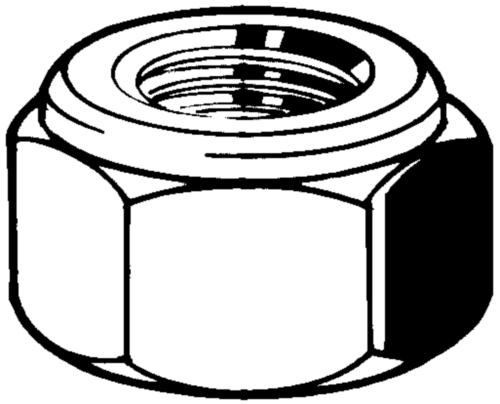 Tuerca hexagonal para espárrago de dos tuercas GA Acero Sin revestimiento M16