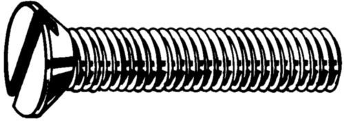 Slotted countersunk head screw DIN 963 A Steel Zinc plated black passivated 4.8 M4X6